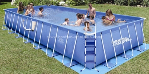 Metal frame swimming portable pool manufacturers and suppliers in china for Metal frame swimming pool 12 x 39