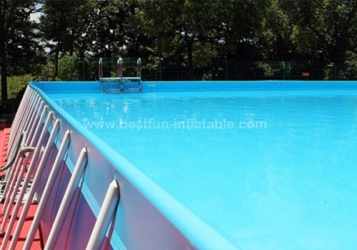 Prefabricated folding steel frame swimming pool for Prefabricated pools