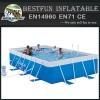 PVC fabric material metal frame pool