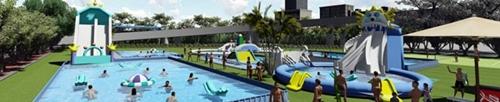 Custom size steel frame swimming pool