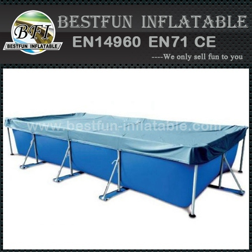 Metal Frame Swimming Pool With Roof Cover