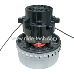 Low noise commercial wet and dry vacuum cleaner motor