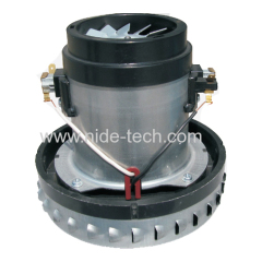 Fully stocked low noise dry vacuum cleaner motor