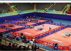 Table Tennis Court PVC Vinyl Roll Flooring Anti - Slip With Glass Fiber Layer