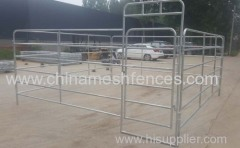 Galvanized 6 Bars Horse Yard Panel
