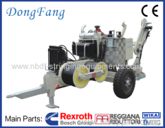 60KN Hydraulic Conductor Winch Pulling Machine with Italy R.R. Reducer