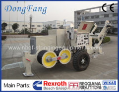 9 Ton Hydraulic Conductor Winch Pulling Machine for 18MM Anti Twist Rope