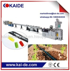 Cheaper drip lateral pipe extrusion line supplier from China
