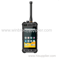 OEM waterproof industrial use OEM barcode scanner 4g lte dmr digital walkie talkie ptt phone smart phone