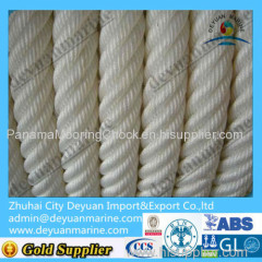 PP polyester mooring rope