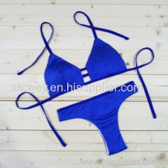 New Strappy Women Bikini Set Cheeky Brazilian Swimwear 2 Pieces Cover Up Swimsuit Cheap Sale