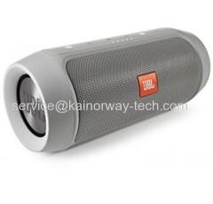 High-Quality JBL Charge2 Splashproof Portable Bluetooth Stereo Gray Speaker With Powerful Bass