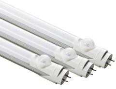 High Efficiency 4FT/1200mm PVC PIR sensor LED Tube Lamps Single Ended Power Input T8 G13 Base 20W 2200Lm