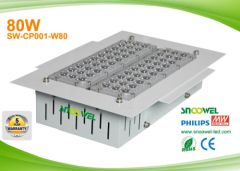 Embedded mounting 80w explosion proof led canopy lighting