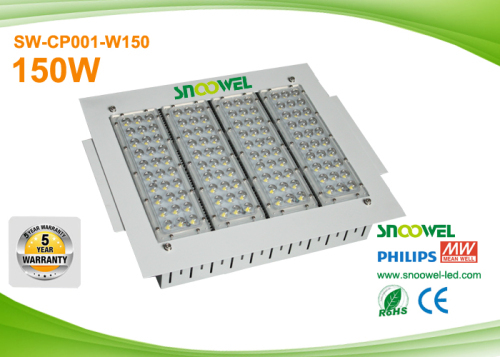 Recessed LED Canopy Lights 150w For Gas Station With Philips