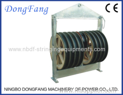 916MM Five Wheels Overhead Transmission Line Cable Running Out Stringing Blocks