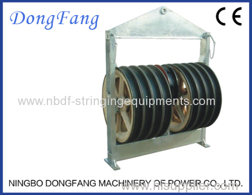 916MM Five Wheels Overhead Transmission Line Cable Stringing Blocks