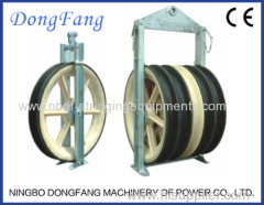 1040MM Three Wheels Overhead Transmission Line Conductor Stringing Blocks for 1000KV Power Line