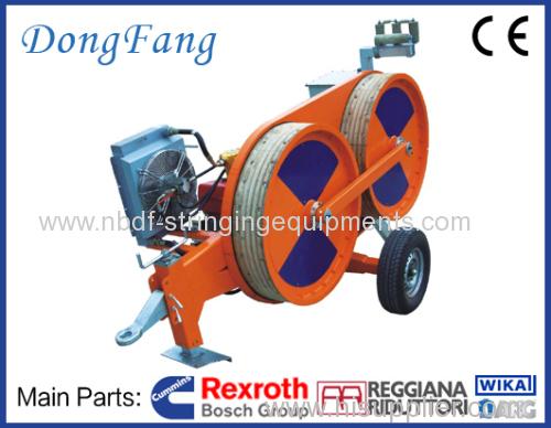 3 Ton Overhead Transmission Line Tensioner for single conductor stringing on 110 KV power line