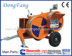 4 Ton Overhead Transmission Lines Tensioners for single conductor stringing on 110 KV power line