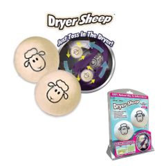 Set of 2 Dryer Sheep Fabric Soft Balls