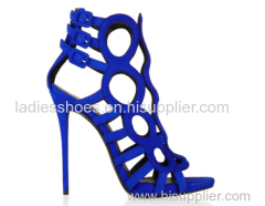 Fashion peep toe buckle high heel party shoes