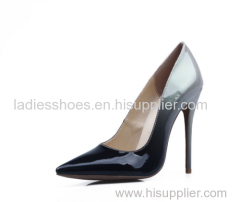 New fashion pointed toe gradient stiletto heel dress shoes