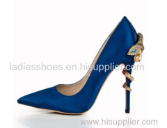 New style satin cloth high heel shoes