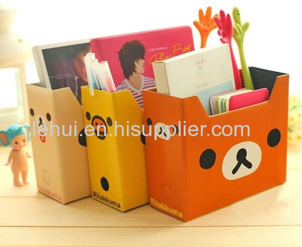 Magazine holder storage box files diy cardboard books for How to make a magazine holder from cardboard