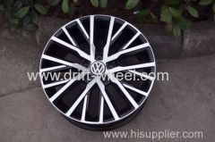 2014 VOLKSWAGEN CC ORIGINAL WHEEL RIM 17X8.0J MATT BLACK MACHINED FACE OR GUNMETAL MACHINED FACE