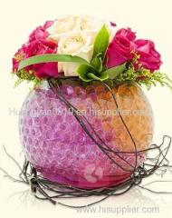 colorful round crystal soil craft gift