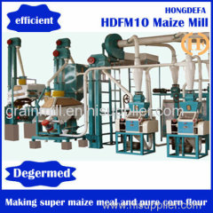 corn maize milling machine maize mill plant with suitable price