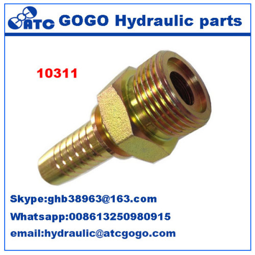 O-Ring Metric Male Flat Seal Swaged Hose Fitting