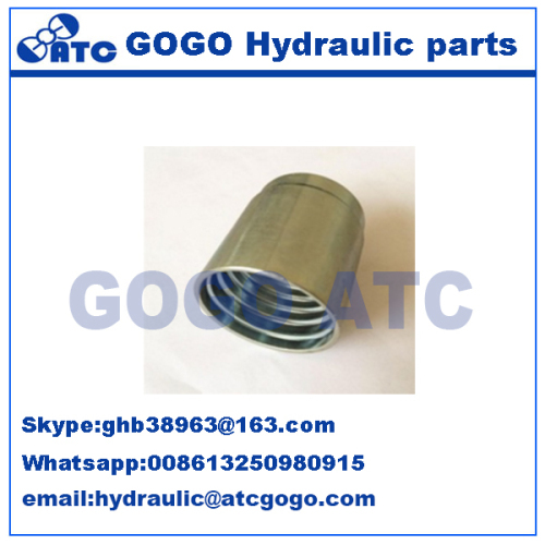 Hydraulic Female Threaded Ferrule For SAE 100 R2AT/EN 853 2SN Hose Hydraulic Hose Ferrule Fitting