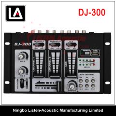 Professional DJ audio mixer console