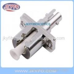 LC to ST Fiber Hybrid Adaptor female to female metal housing