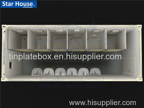Prefabricated bathroom unit install six toilets with CE CSA BV AS certificate