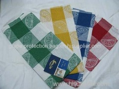100% cotton jacquard tea towel for home and hotel