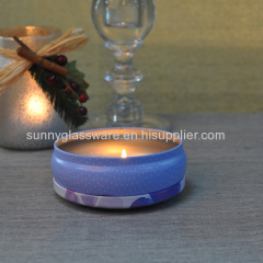 Round shape tinplate candle holder