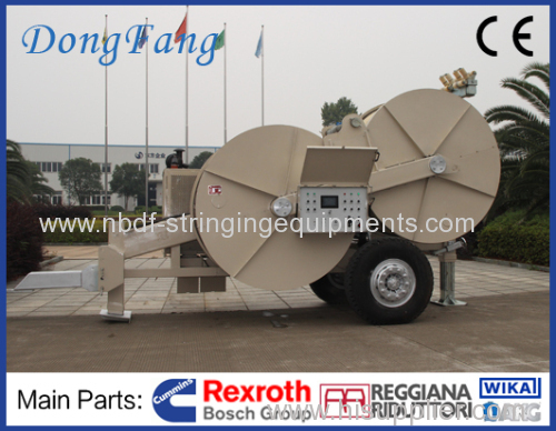 14 Ton Overhead Transmission Line Stringing Equipment Hydraulic Conductor Tensioner With Italy Reducer