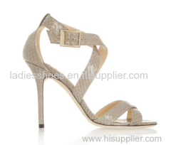 hot selling snakeskin high heel shoes