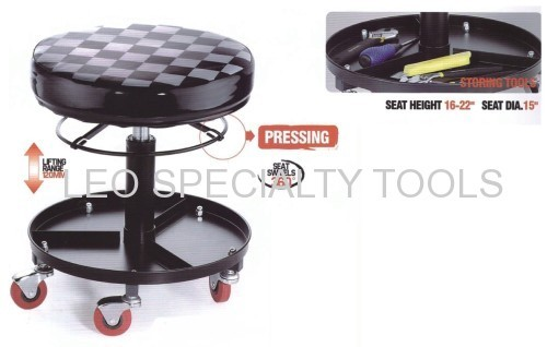Rolling Adjustable Height Shop Stool