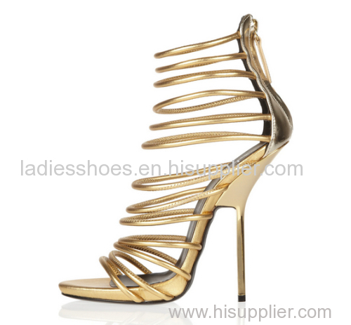 Mulheres strappy ladies open toe high heels