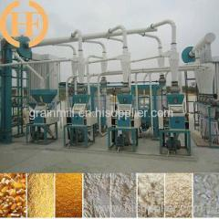 10-100T/D Corn maize flour milling machines