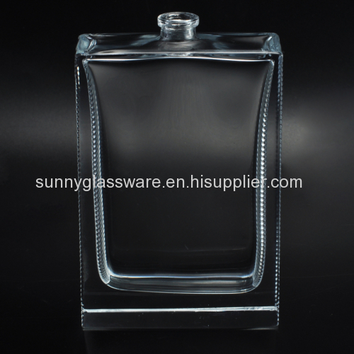 Transparent rectangle glass perfume bottles for personal care