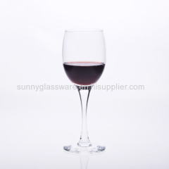 165ml hand blown long stemmed red wine glass