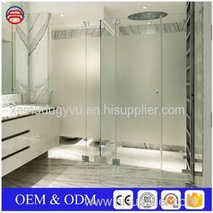 Sandblasted Pattern Frosted Tempered Gl For Shower Doors