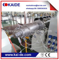 Pipe extrusion line for HDPE pipe 50m/min China supplier KAIDE
