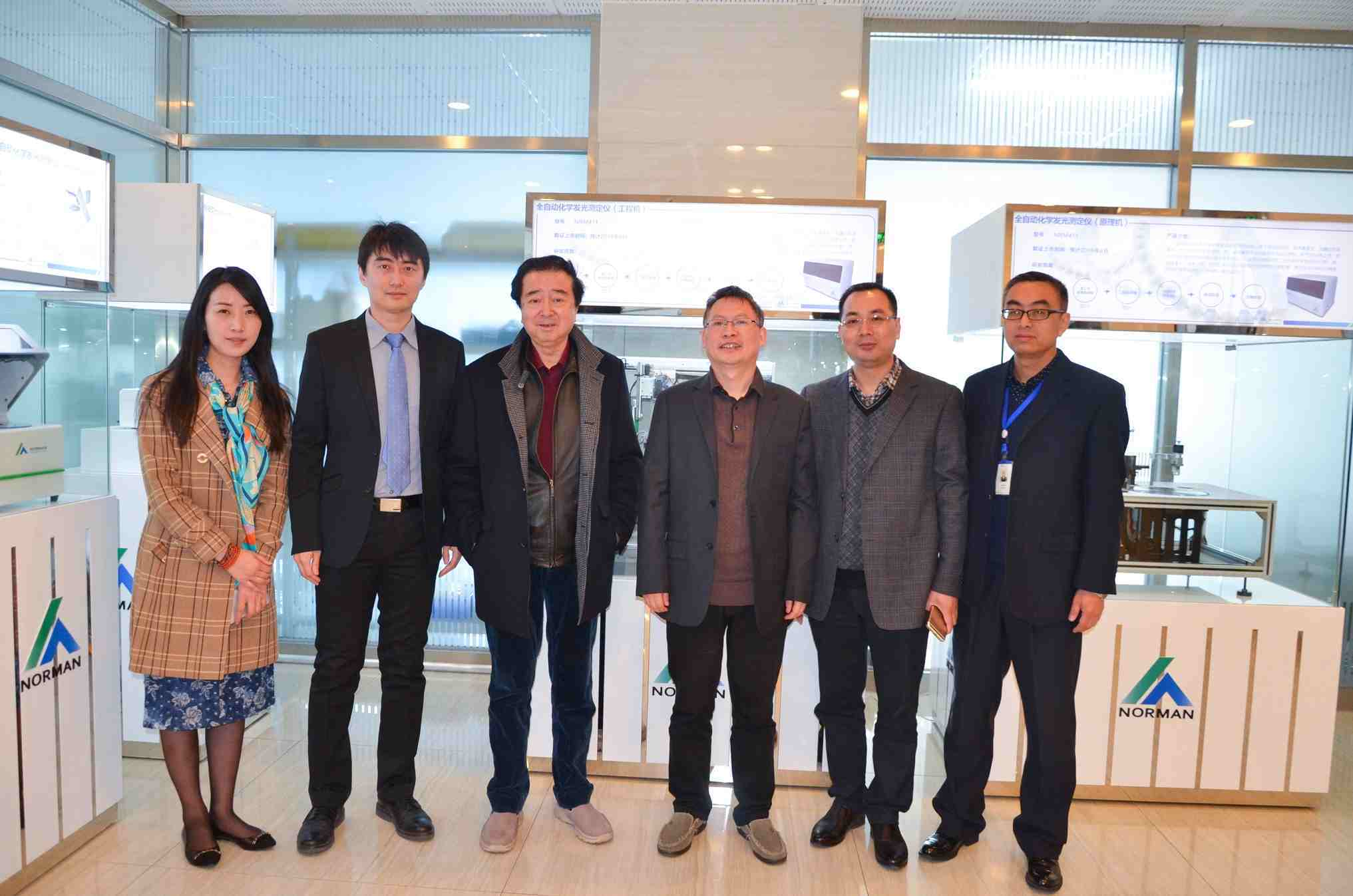 Professor Yulong Cong inspected Norman on 28th, March