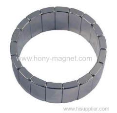 高品質の永久的な弧状のN35SH-N45SHネオジムモーター磁石